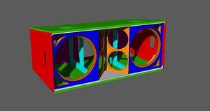 3D jbl vertec vt4889 cabinet