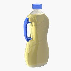 3D sunflower oil package model