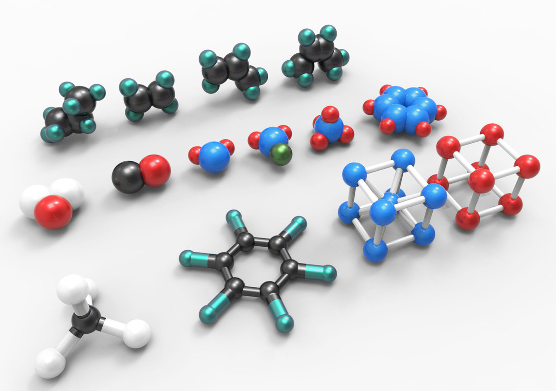 3D model atoms molecules