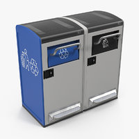3D general waste recycling station