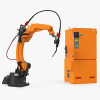 Generic Welding Robot with Power Supply 3D Model