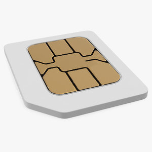 micro sim card 3D model