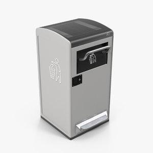 modern solar smart bin 3D model
