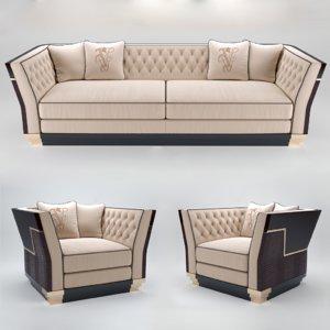 3D sofa berry capitone