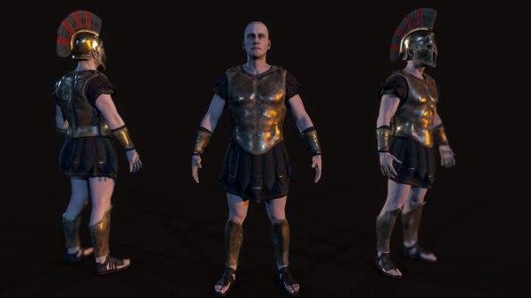 3D model greek hoplite