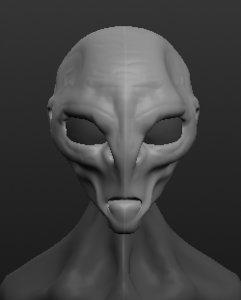 3D bust alien