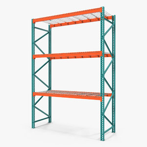 3D pallet rack section model