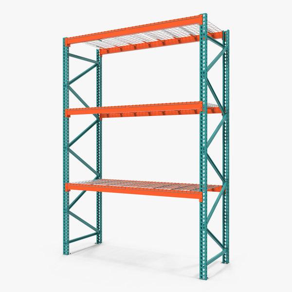 3D pallet rack section model