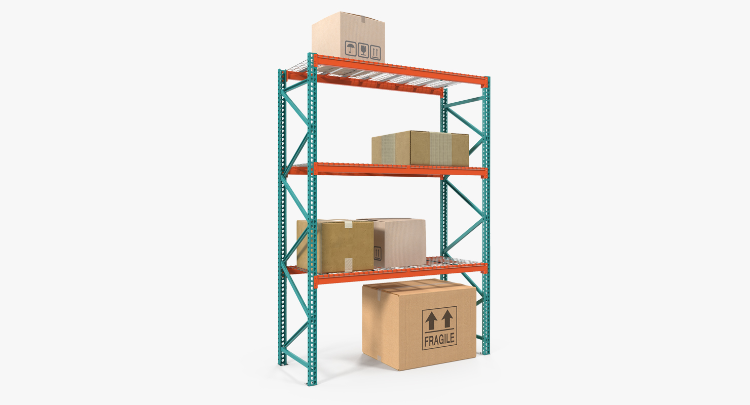Pallet Rack With Boxes