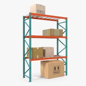 3D pallet rack boxes
