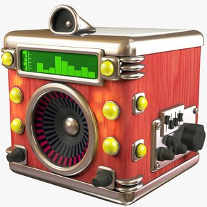 stylized music box 3D model