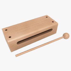 3D wood block model