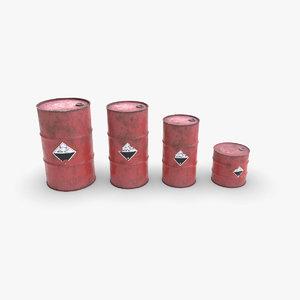 3D metallic barrels