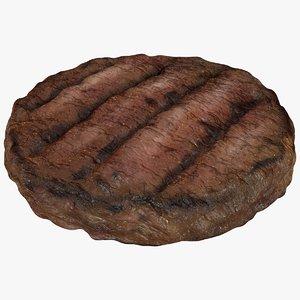 burger patty meat 3D model
