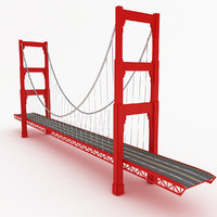bridge golden 3D