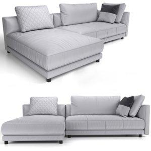 sectional sofa natuzzi 3D model