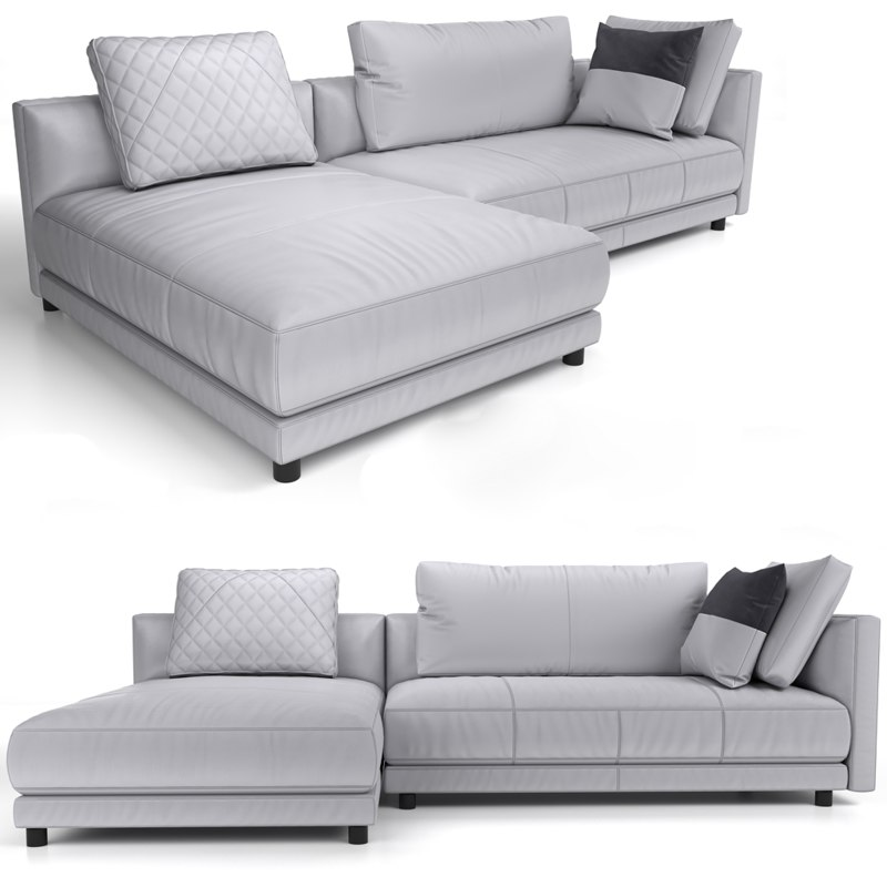 sectional sofa natuzzi 3D model