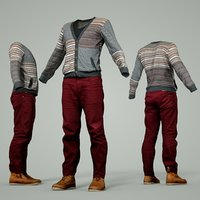 male clothing outfit 3D