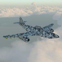 3D bomber plane bomb model