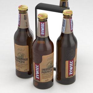 beerbottle beverage 3D model