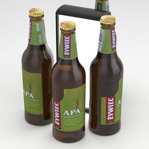 3D beerbottle beverage model