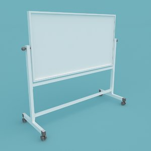 3D whiteboard stand 2 model