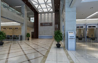 3D bank hall scene