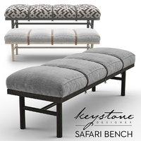 3D safari bench keystone designer model