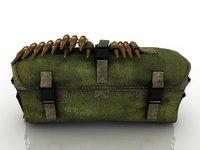 Bag with ammunition