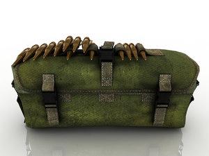 3D model bag ammunition