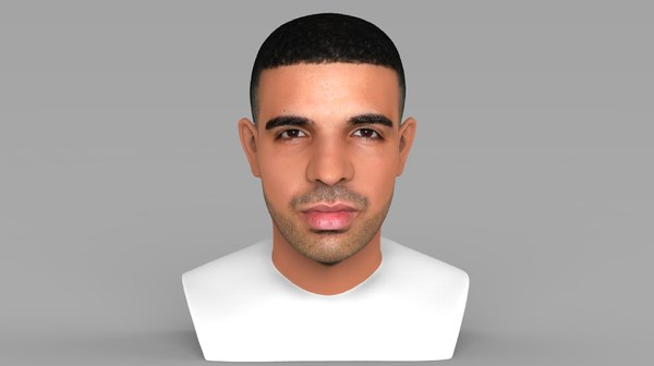 3D model drake bust ready color