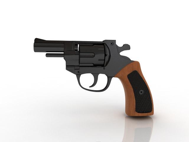 revolver pistol handgun 3D model