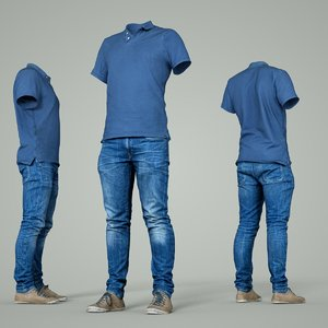 3D model male clothing outfit