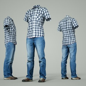 male clothing outfit model