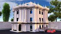 mansion european villa 3D model