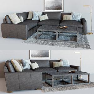 maxwell modular leather corner 3D model
