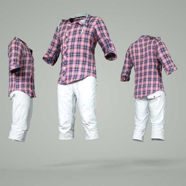 male clothing outfit 3D model