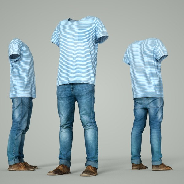 3D male clothing outfit