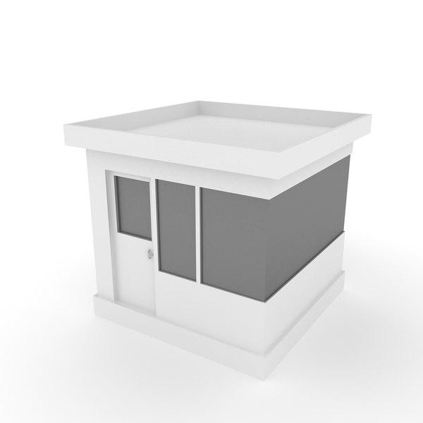 3D model guard house