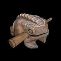 indonesian croaking wooden frog model
