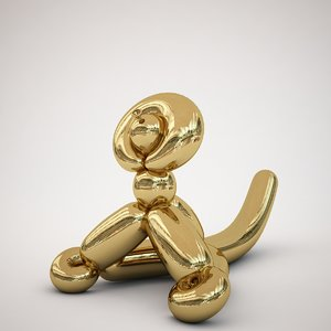 jeff koons balloon monkey 3D model