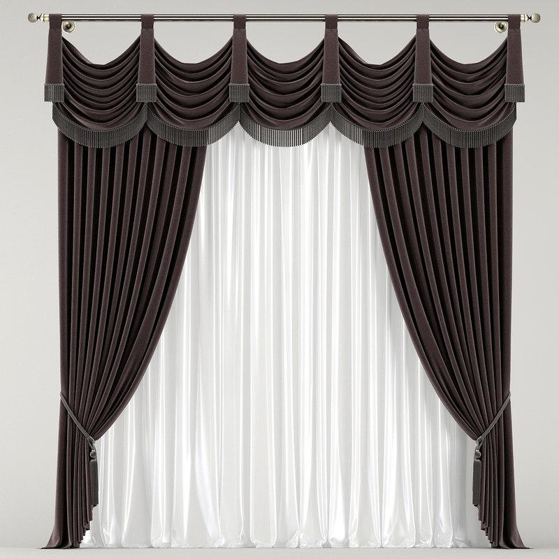 3D classic curtain