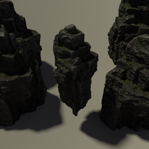 mountain rock 1 nature 3D model