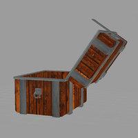 3D model treasure chest
