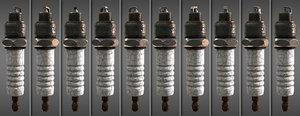 3D spark plug model