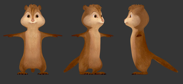 3D alvin chipmunks model