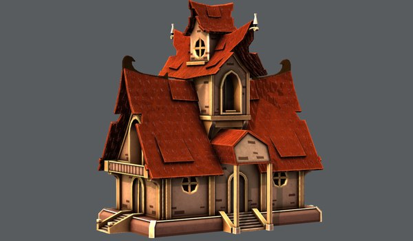 house cartoon v02 3D model