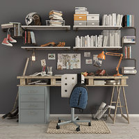 Writing Desk and Decor