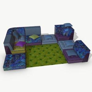big bong sofa 3D