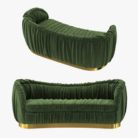 sofa brabbu dakota velvet 3D model
